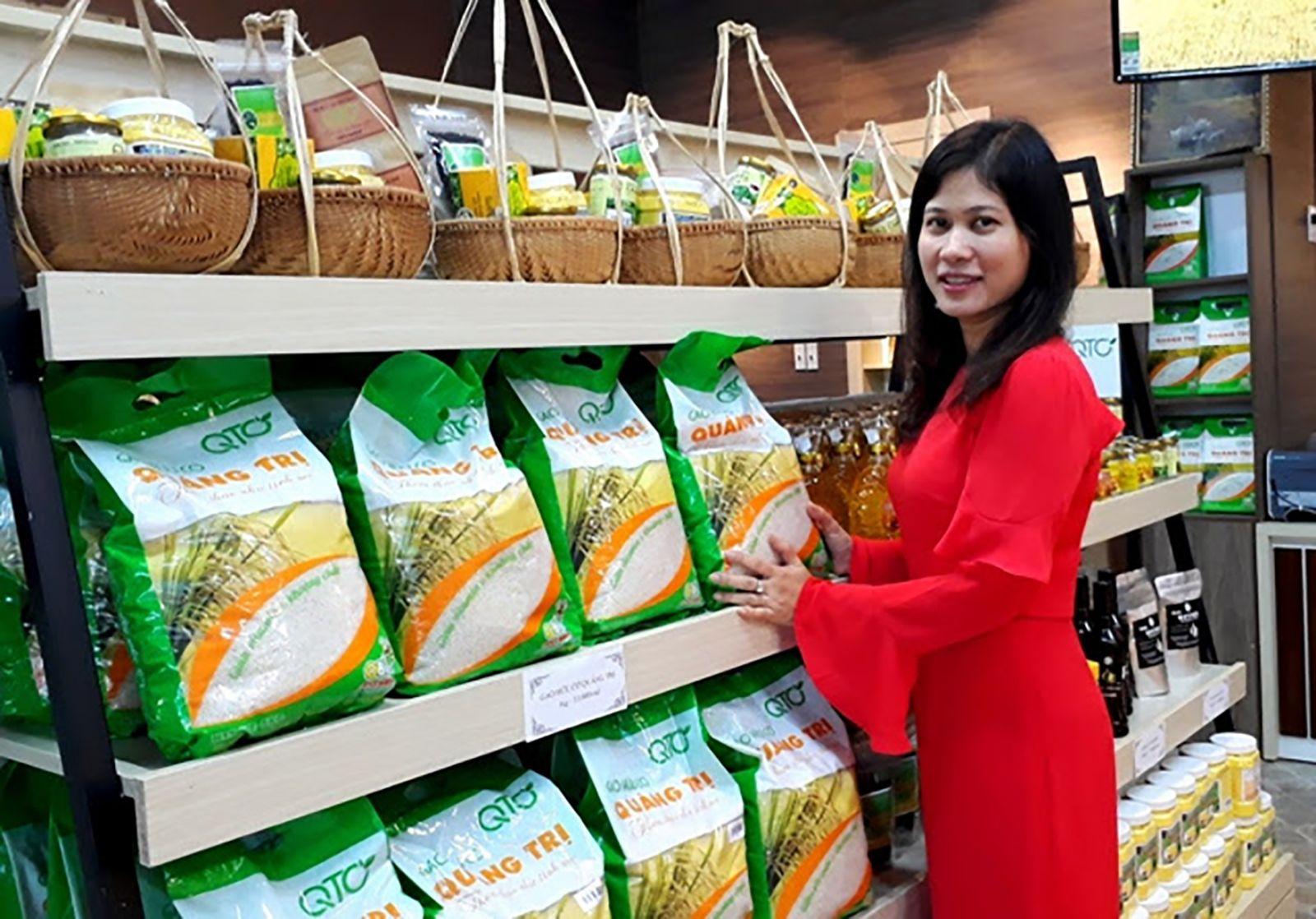 Gạo hữu cơ Quảng Trị hiện đã được bày bán tại các siêu thị trên toàn quốc